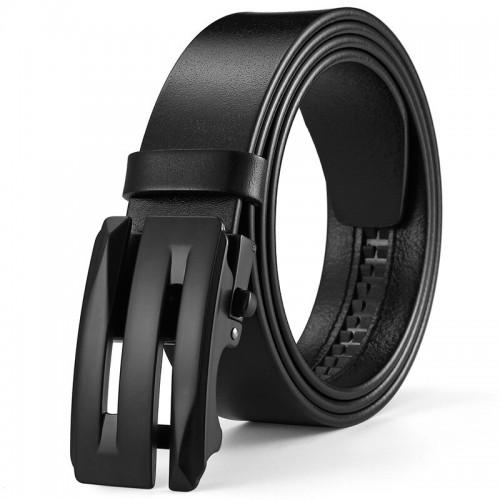 Stilingas juodas diržas vyrui su automatine sagtimi