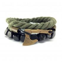 Apyrankių komplektas vyrams su vikingų kirviu