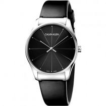 """Juodas vyriškas """"CALVIN KLEIN"""" laikrodis su sidabro spalvos korpusu"""