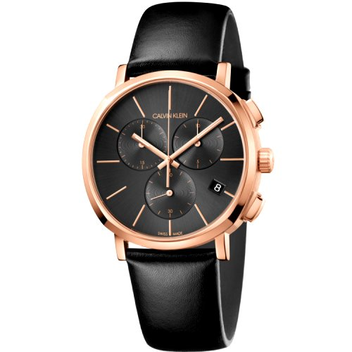 """Prabangus """"CALVIN KLEIN"""" laikrodis su aukso spalvos detalėmis vyrui"""
