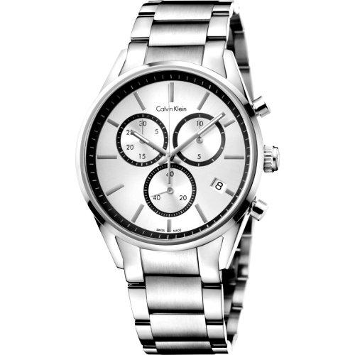 """Prabangus sidabro spalvos """"CALVIN KLEIN"""" laikrodis su šveicarišku kvarciniu mechanizmu vyrui"""