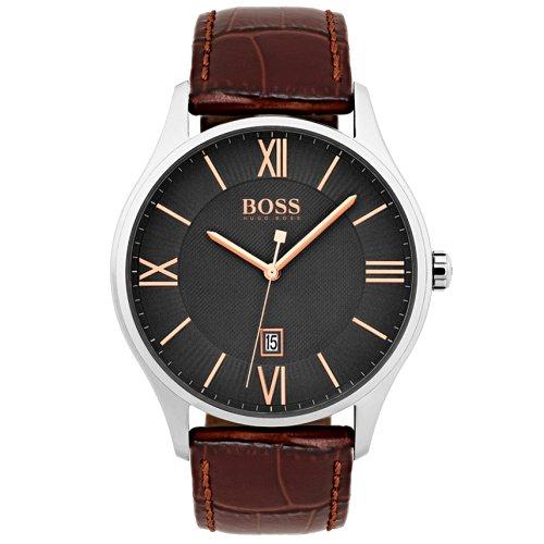 """Vyriškas """"HUGO BOSS"""" laikrodis su rudu dirželiu iš natūralios odos"""