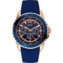 """Mėlynas """"GUESS"""" laikrodis vyrams su silikoniniu dirželiu"""