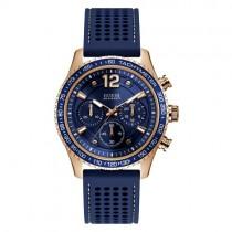 """Mėlynos ir aukso spalvos vyriškas """"GUESS"""" laikrodis su apsauga nuo vandens"""
