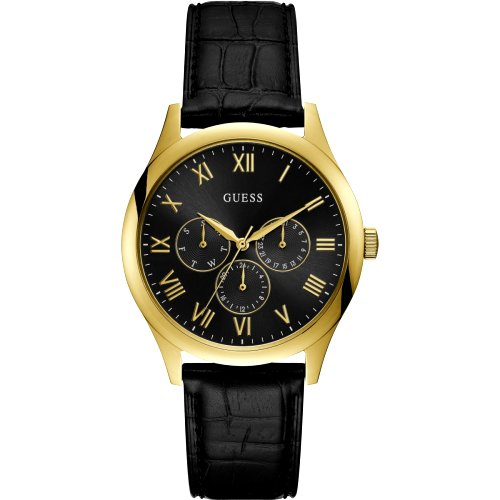 """""""GUESS"""" laikrodis rodantis datą vyrams juodos ir aukso spalvos"""