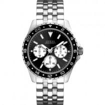 """Stilingas plieninis """"GUESS"""" laikrodis vyrams su juodu ciferblatu"""