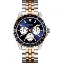 """Prabangus vyriškas laikrodis """"GUESS"""" su aukso spalvos juosta dirželio viduryje"""