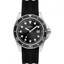 """Juodos spalvos """"GUESS"""" laikrodis vyrams su dirželiu iš silikono"""