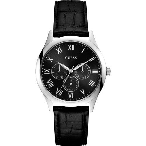 """""""GUESS"""" stilingas sidabro ir juodos spalvos laikrodis vyrui"""
