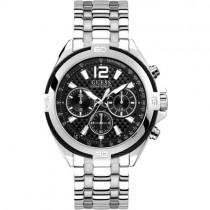 """Prabangus sidabro spalvos  """"GUESS"""" laikrodis vyrui su chronometrais"""