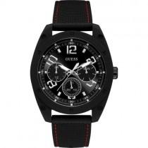 """Juodas """"GUESS"""" laikrodis su raudonos spalvos siūle vyrams"""