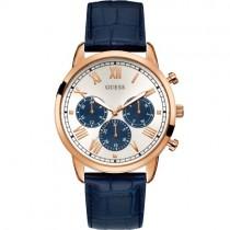 """Vyriškas """"GUESS"""" laikrodis su mėlynu odiniu dirželiu"""