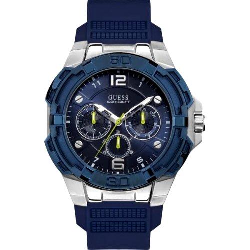 """Atsparus mėlynos spalvos """"GUESS"""" laikrodis vyrui"""