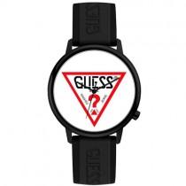 """Vyriškas """"GUESS"""" laikrodis su logotipu baltame ciferblate"""