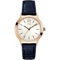 """Vyriškas """"GUESS"""" laikrodis su mėlynu dirželiu iš natūralios odos"""