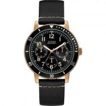 """Juodas vyriškas """"GUESS"""" laikrodis su aukso spalvos detalėmis"""