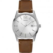 """""""GUESS"""" laikrodis vyrui su šviesiai rudu odiniu dirželiu"""