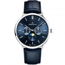 """Vyriškas """"CLAUDE BERNARD"""" laikrodis su mėlynu ciferblatu"""