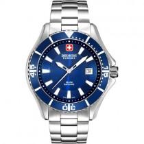 """Vyriškas """"SWISS MILITARY"""" laikrodis su mėlynu ciferblatu"""
