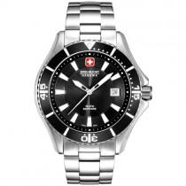 """Vyriškas """"SWISS MILITARY"""" laikrodis su juodu ciferblatu"""