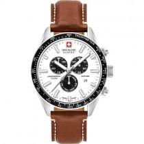 """Vyriškas """"SWISS MILITARY"""" laikrodis su rudu dirželiu"""