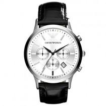 """Vyriškas """"EMPORIO ARMANI"""" laikrodis su juodu odiniu dirželiu"""