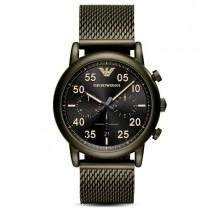 """Vyriškas """"EMPORIO ARMANI"""" laikrodis su žalios spalvos nerūdijančio plieno dirželiu"""