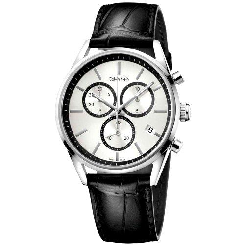 """""""CALVIN KLEIN"""" laikrodis vyrui su juodu odiniu dirželiu"""