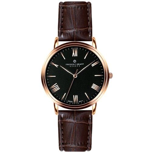 """Vyriškas """"FREDERIC GRAFF"""" laikrodis su rudu odiniu dirželiu"""