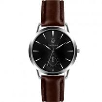 """Vyriškas """"PAUL MCNEAL"""" laikrodis su rudu odiniu dirželiu"""