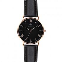 """Vyriškas """"PAUL MCNEAL"""" laikrodis su juodu odiniu dirželiu"""
