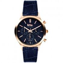 """Vyriškas """"LEE COOPER"""" laikrodis su mėlynu odiniu dirželiu"""
