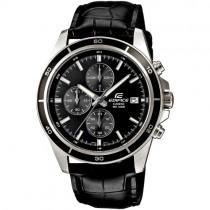 """Vyriškas """"CASIO"""" laikrodis su juodos spalvos odiniu dirželiu"""