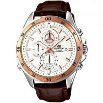 """Vyriškas """"CASIO"""" laikrodis su rudos spalvos odiniu dirželiu"""