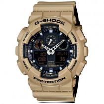 """Vyriškas """"CASIO"""" laikrodis su šviesiai rudu plastikiniu dirželiu"""