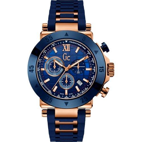 """Vyriškas """"GC"""" laikrodis su tamsiai mėlynu ciferblatu"""