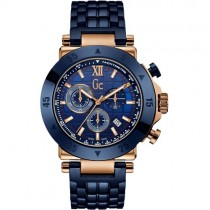 """Vyriškas """"GC"""" laikrodis su mėlynos spalvos nerūdijančio plieno dirželio"""