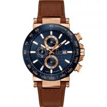 """Vyriškas """"GC"""" laikrodis su rudu odiniu dirželiu"""