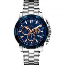 """Vyriškas """"GC"""" laikrodis su sidabro spalvos nerūdijančio plieno apyranke"""