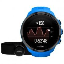 """Sportinis vyriškas """"SUUNTO"""" laikrodis su mėlynu silikoniniu dirželiu"""