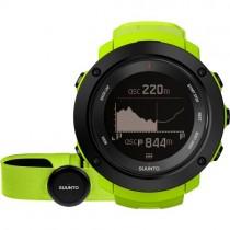 """Išmanusis vyriškas """"SUUNTO"""" laikrodis su žalios spalvos silikoniniu dirželiu"""