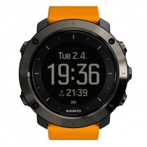 """Išmanusis vyriškas """"SUUNTO"""" laikrodis su oranžinės spalvos silikoniniu dirželiu"""