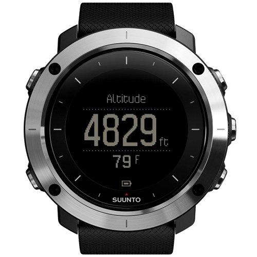 """Išmanusis vyriškas """"SUUNTO"""" laikrodis su juodos spalvos silikoniniu dirželiu"""
