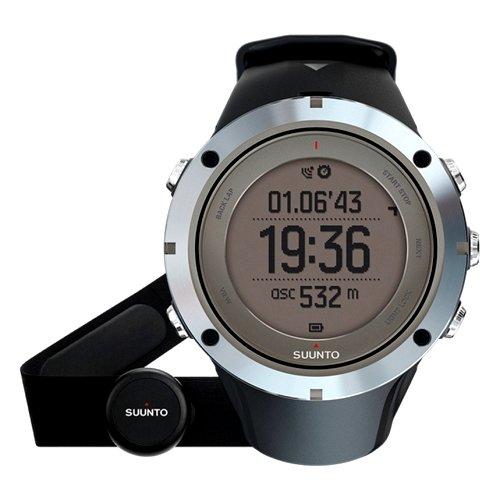 """Išmanusis vyriškas """"SUUNTO"""" laikrodis su juodu silikoniniu dirželiu"""