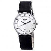 """Vyriškas """"BOCCIA TITANIUM"""" laikrodis su juodu odiniu dirželiu"""