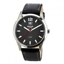 """Vyriškas """"BOCCIA TITANIUM"""" laikrodis su juodu ciferblatu"""