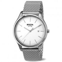 """Vyriškas """"BOCCIA TITANIUM"""" laikrodis su sidabro spalvos nerūdijančio plieno dirželiu"""