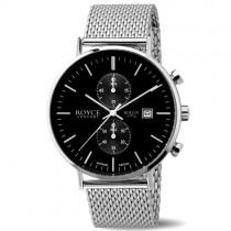 """Vyriškas """"BOCCIA TITANIUM"""" laikrodis su sidabro spalvos titaniniu dirželiu"""