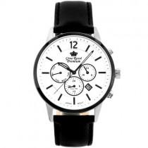 """Vyriškas """"GINO ROSSI"""" laikrodis su juodu odiniu dirželiu"""