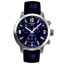 """Vyriškas '""""TISSOT"""" laikrodis su tamsiai mėlynu odiniu dirželiu"""